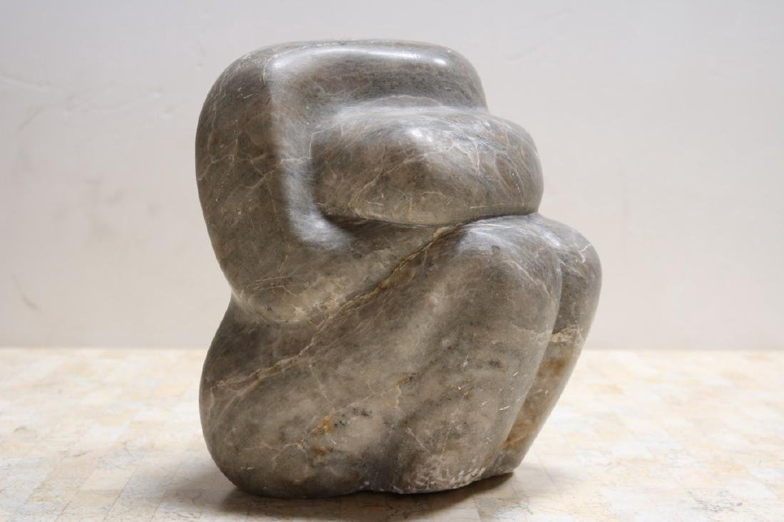 Evocative Grey Marble Sculpture