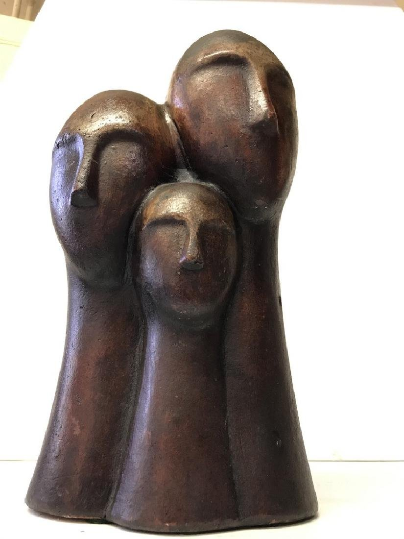 Figurative Terracotta Sculpture of Family