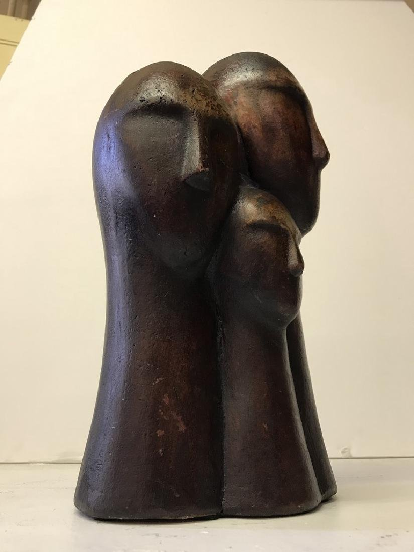 Figurative Terracotta Sculpture of Family - 2