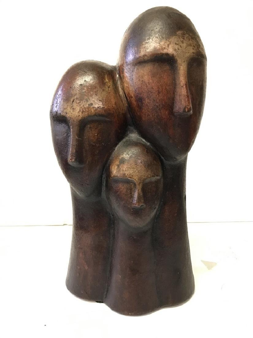 Figurative Terracotta Sculpture of Family - 3