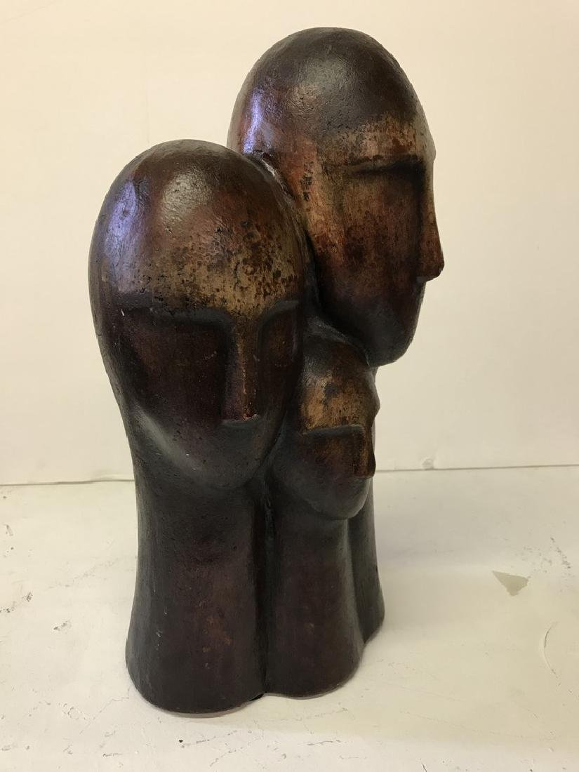 Figurative Terracotta Sculpture of Family - 4