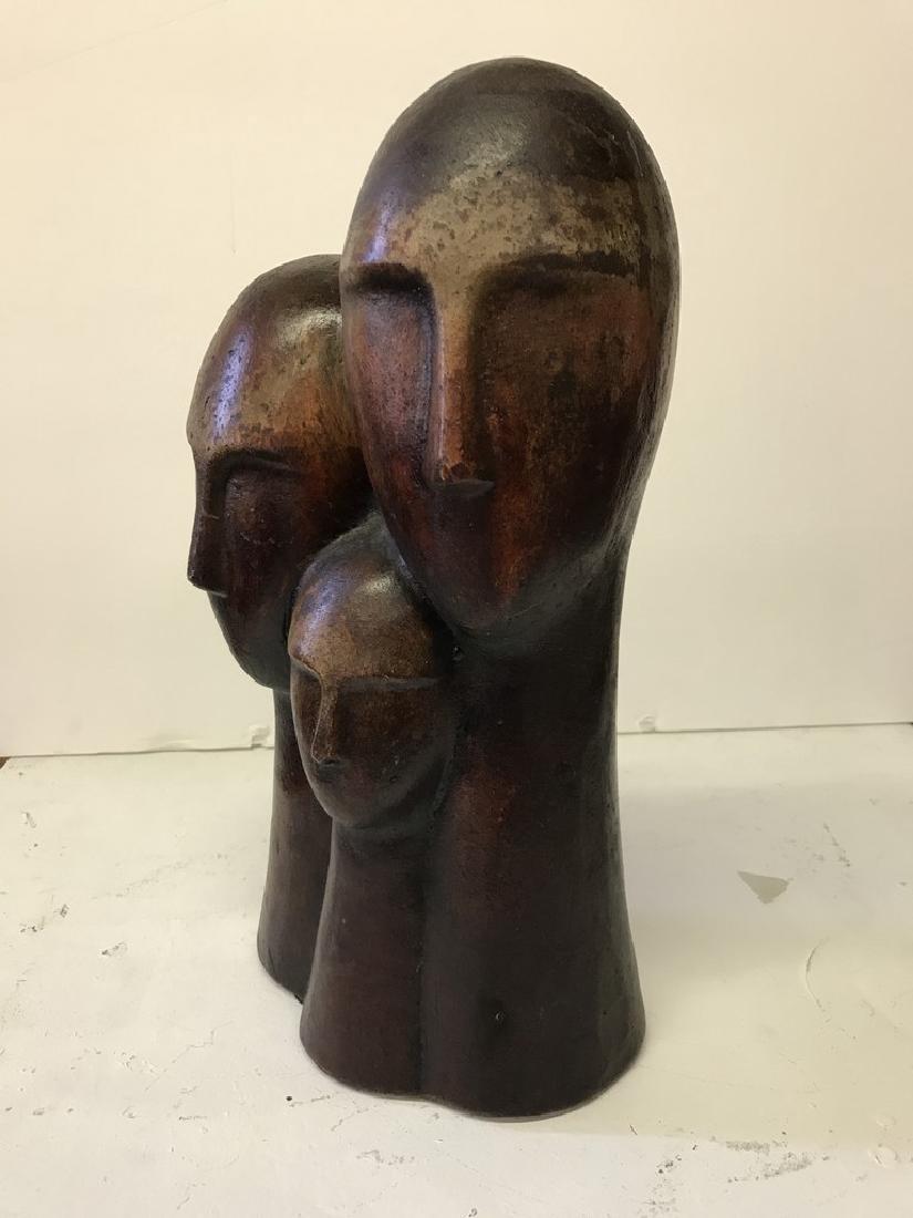 Figurative Terracotta Sculpture of Family - 5