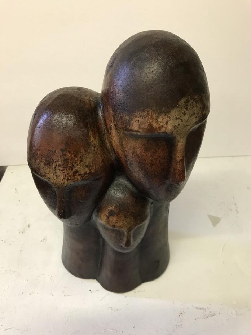 Figurative Terracotta Sculpture of Family - 7