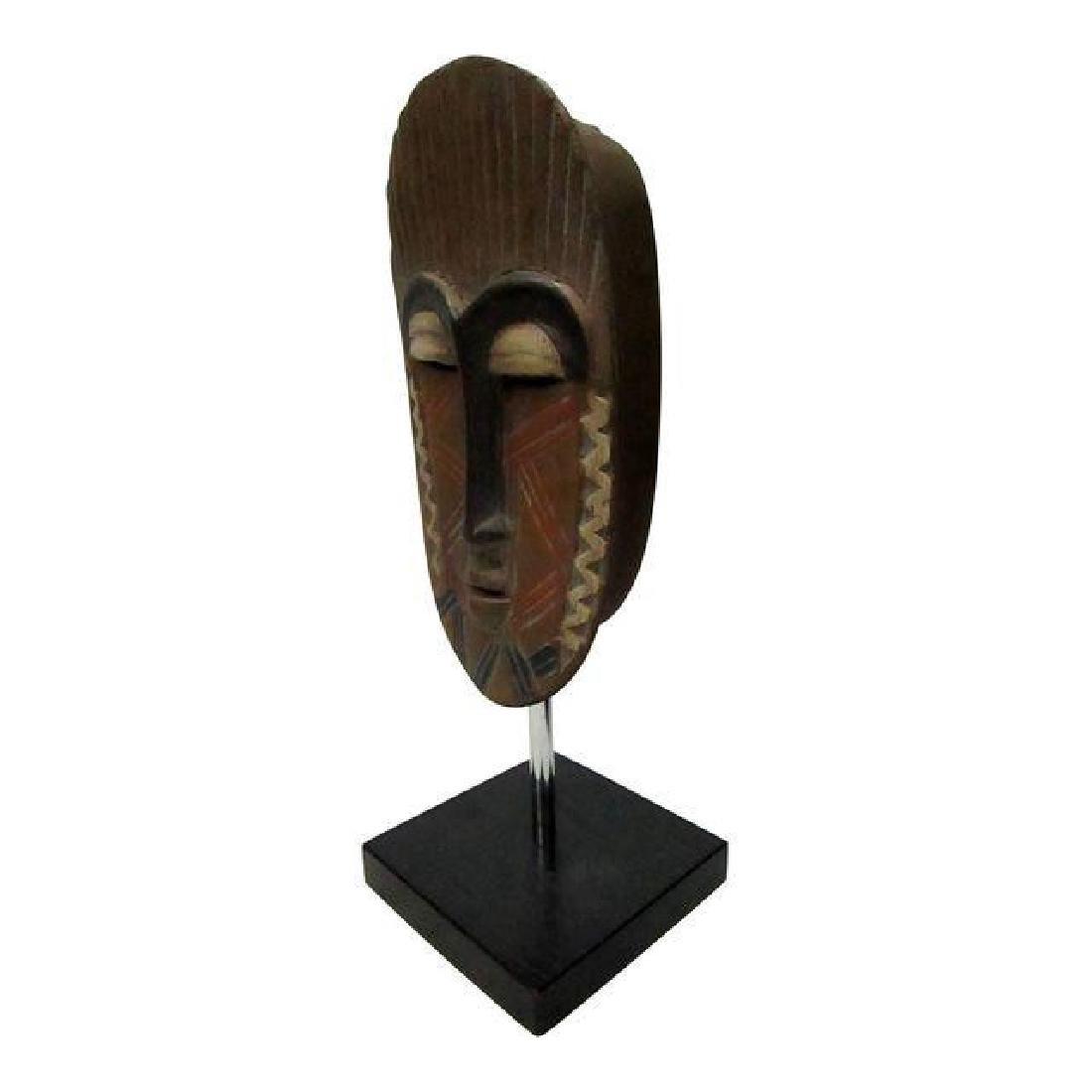 African Mask on Black Base