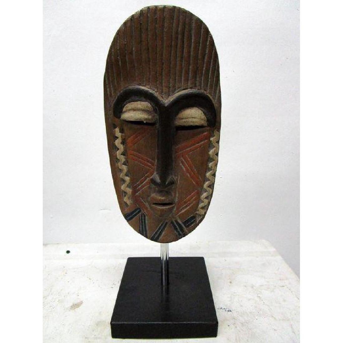 African Mask on Black Base - 2
