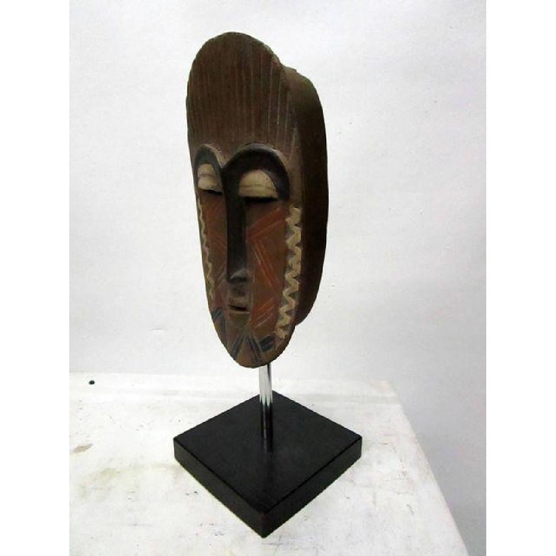African Mask on Black Base - 3
