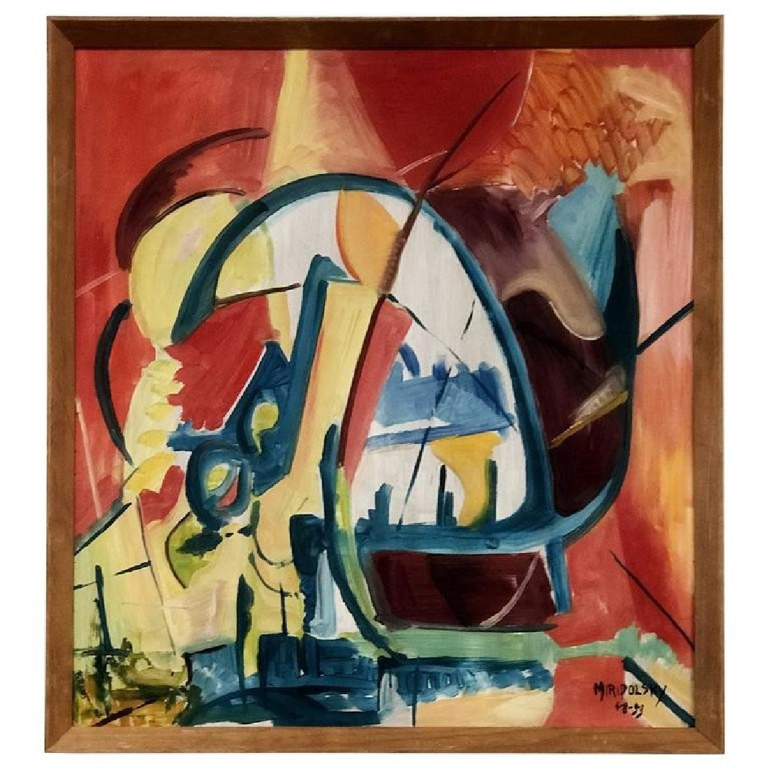 Dynamic Abstract Oil Painting by Bert Miripolsky