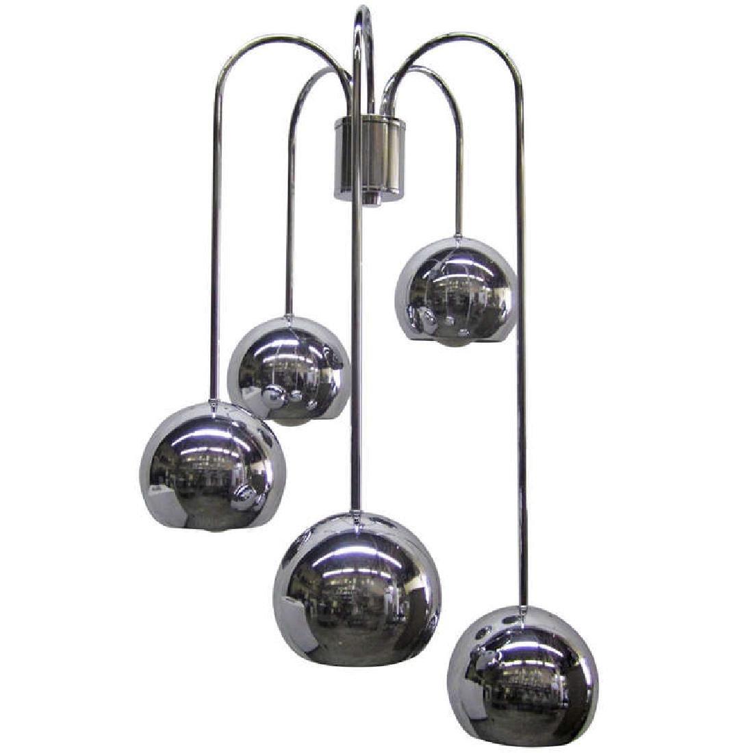 Five-Tier Chrome Pendant Lamp by Robert Sonneman