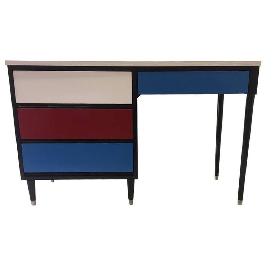 French 50s Colorful Desk by Morris of California