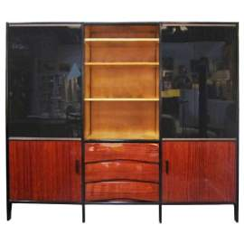MCM Mahogany French Cabinet by Meubles Minvielle