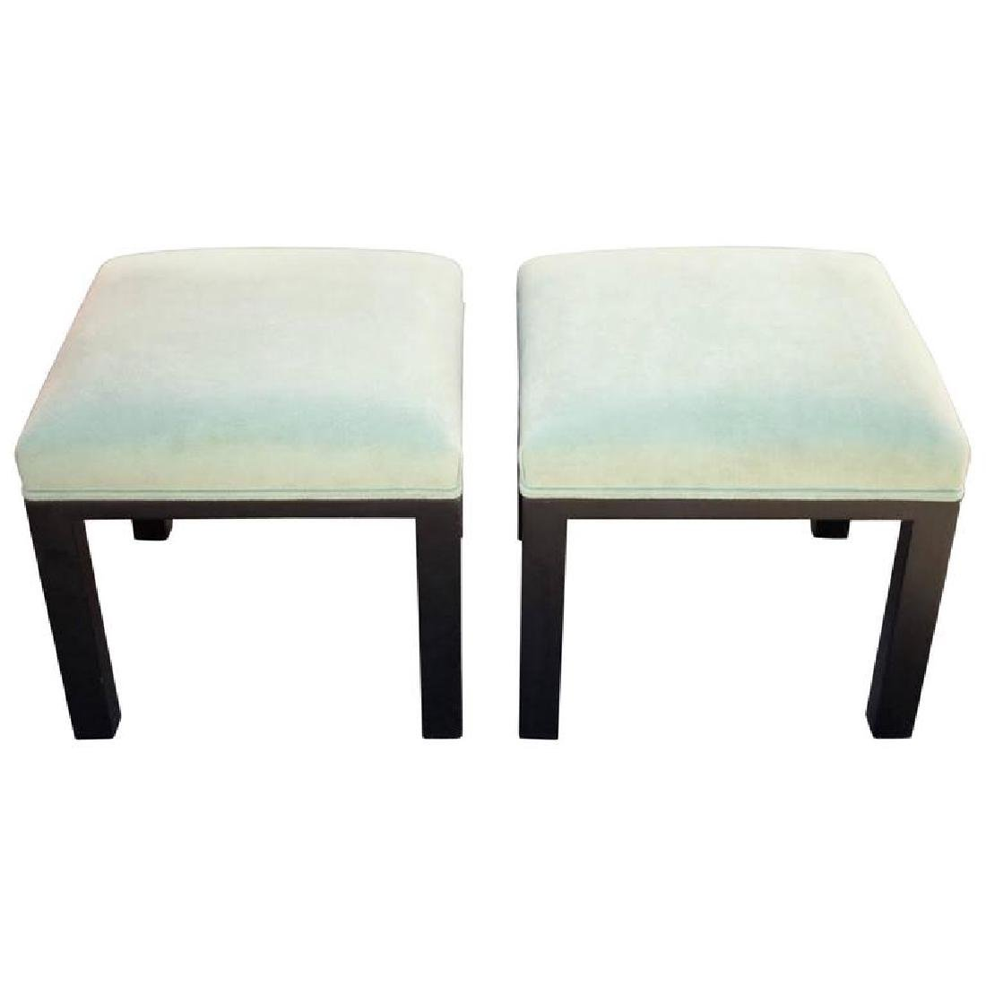 Light Green Ottoman or Stools by Michael Taylor