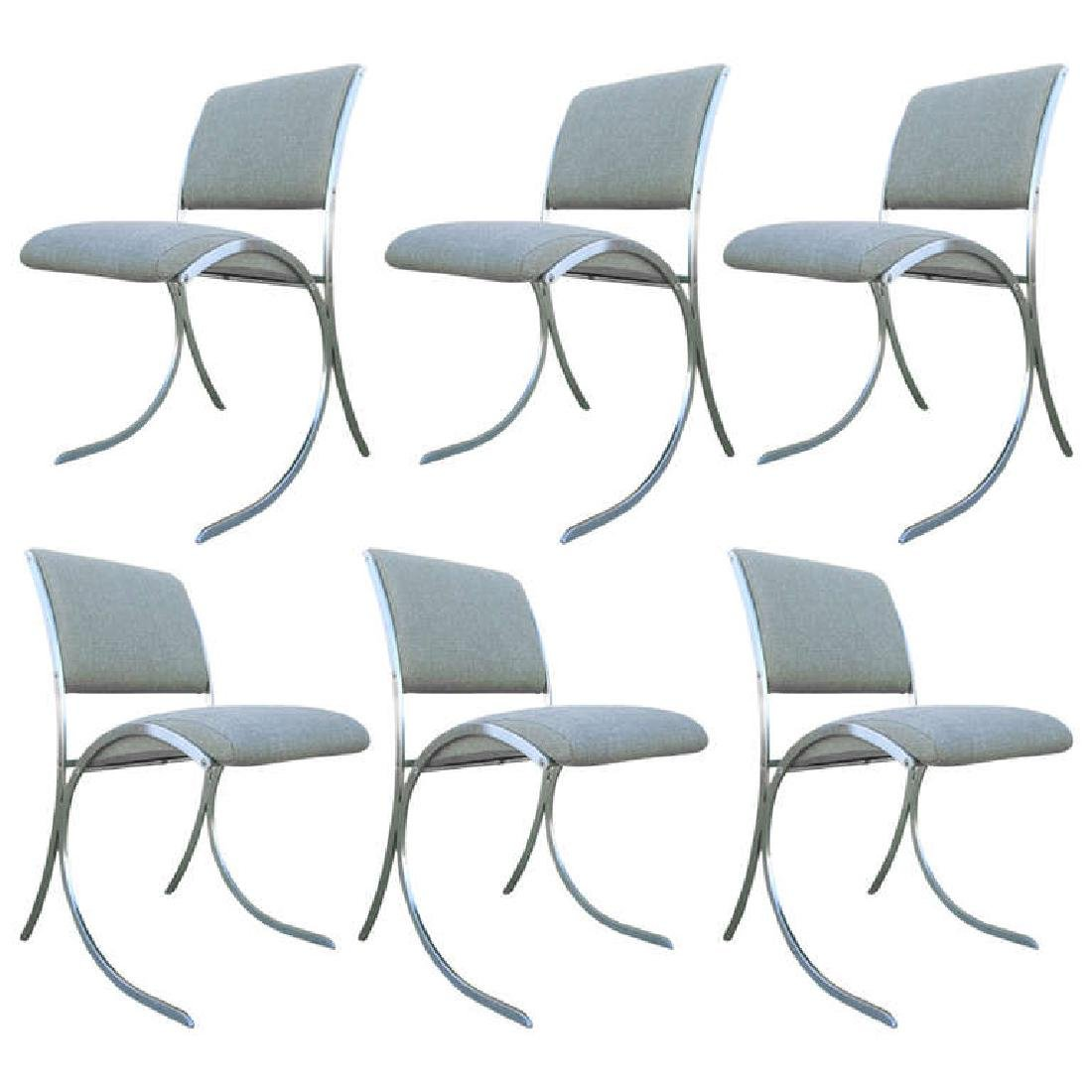 Six French Dining Chairs by Maison Jansen