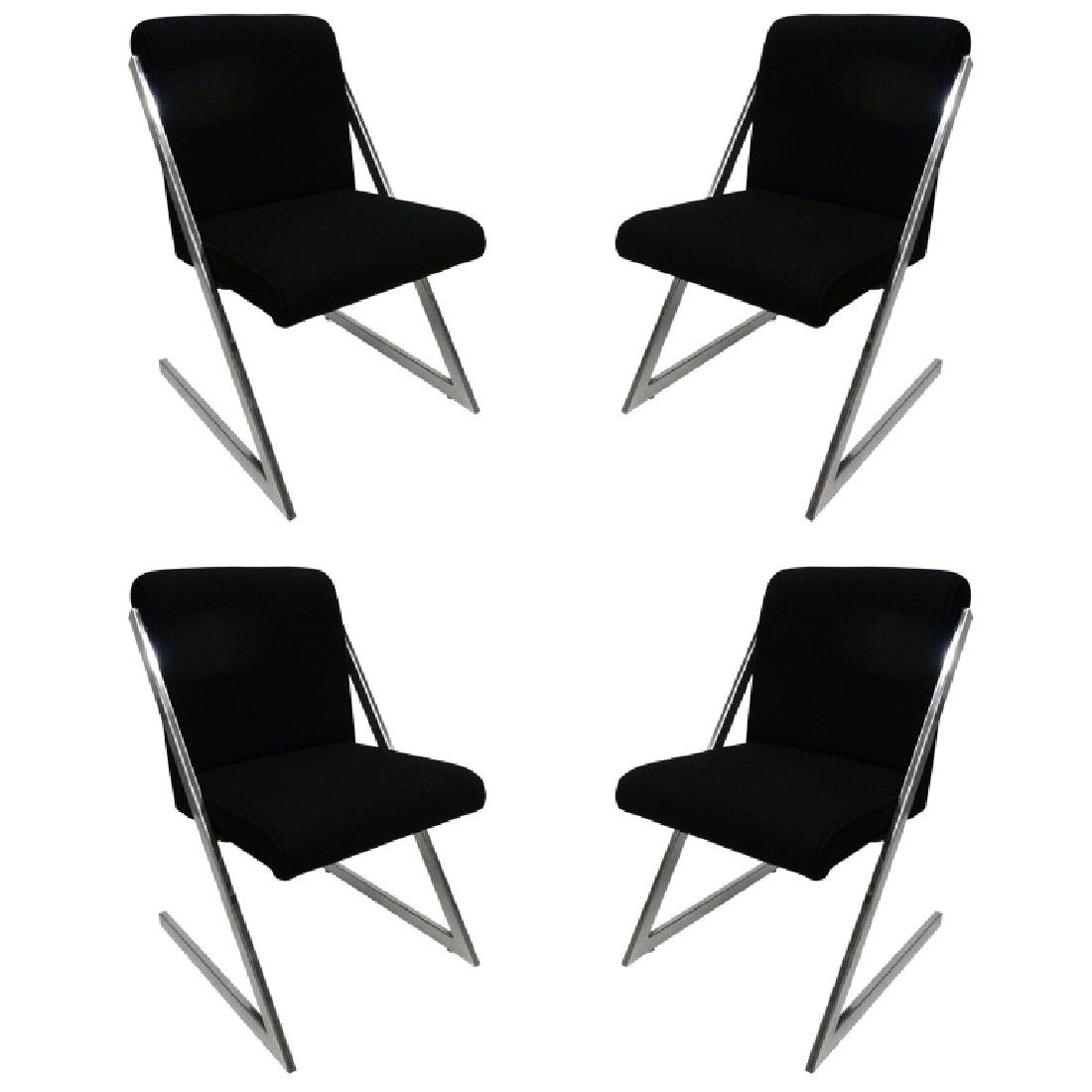"""""""Z"""" Chairs by Milo Baughman, Set of Four"""