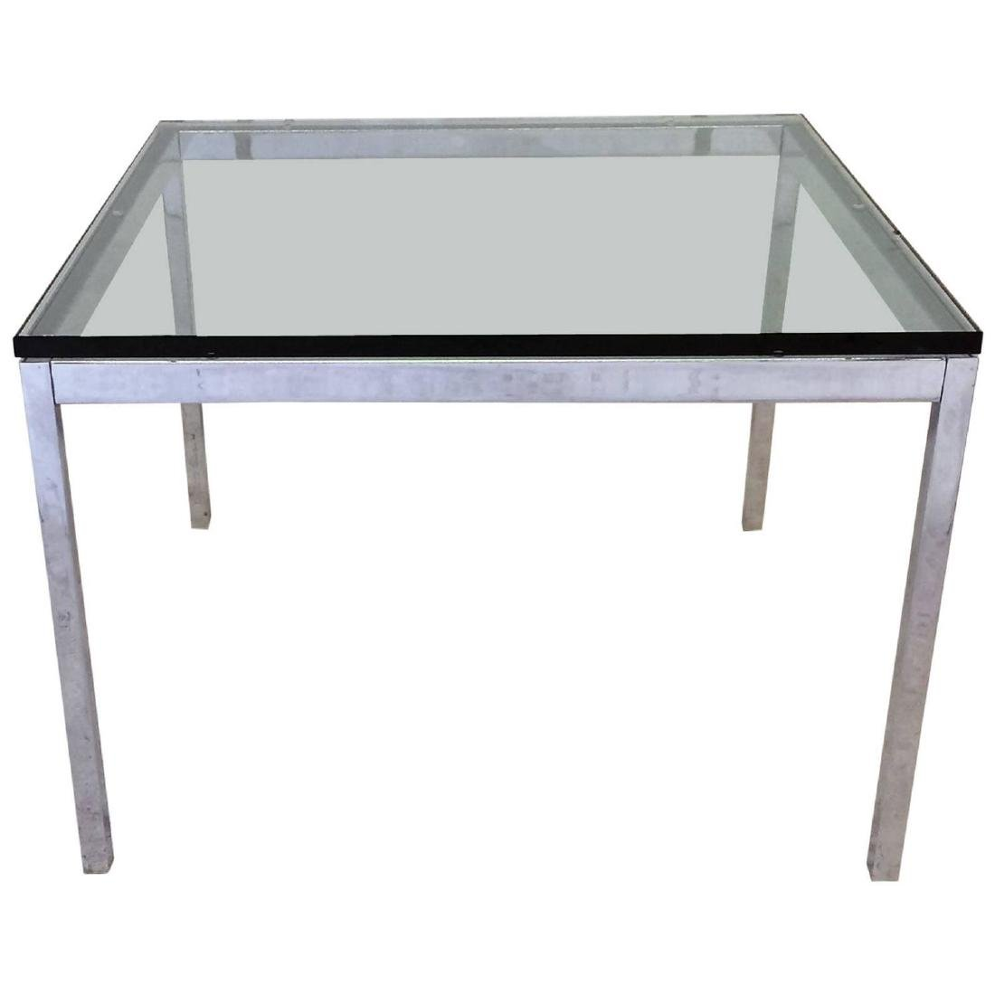 Glass Top Florence Knoll Side Table