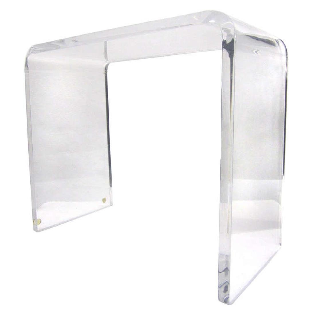 Waterfall Side Table in Lucite