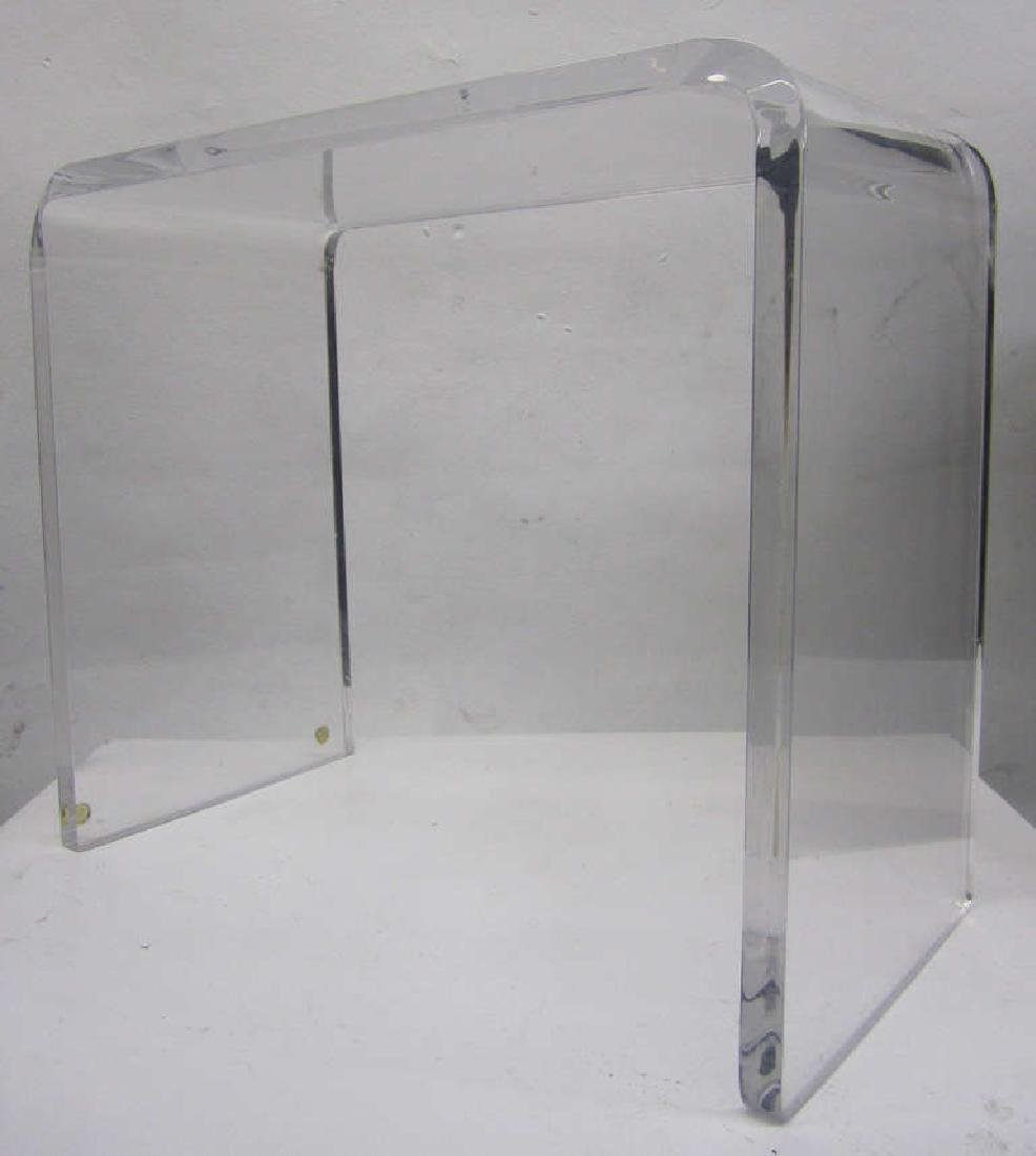 Waterfall Side Table in Lucite - 2