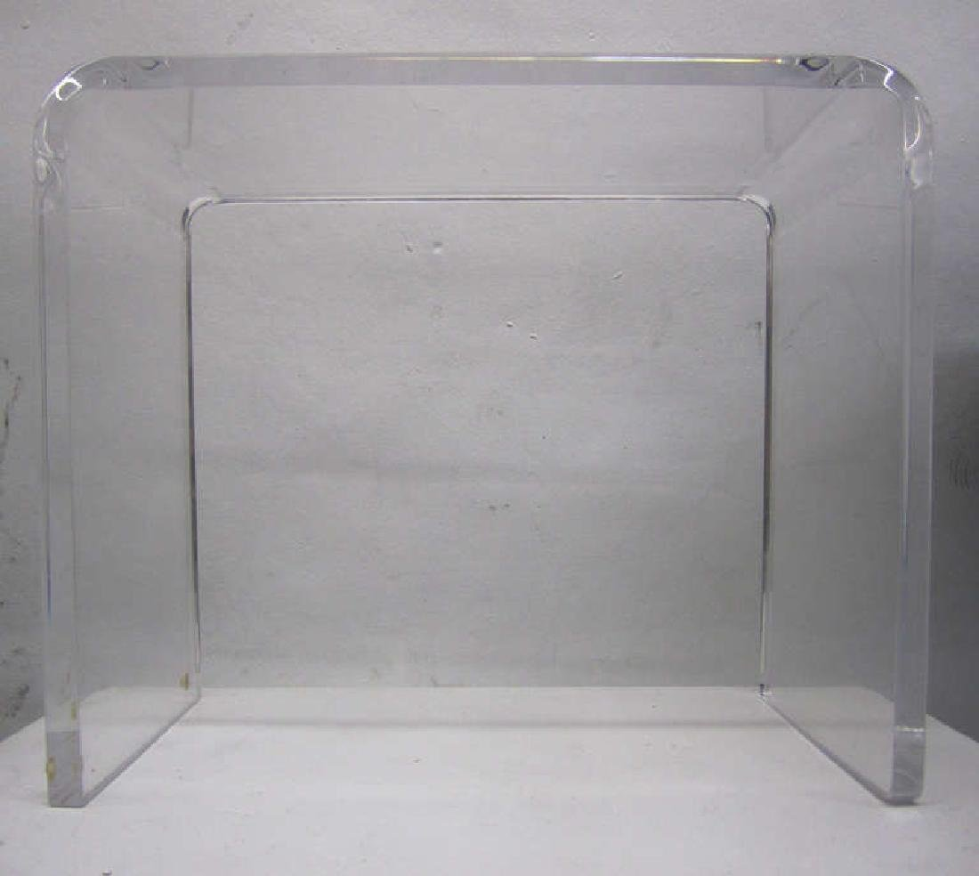 Waterfall Side Table in Lucite - 3