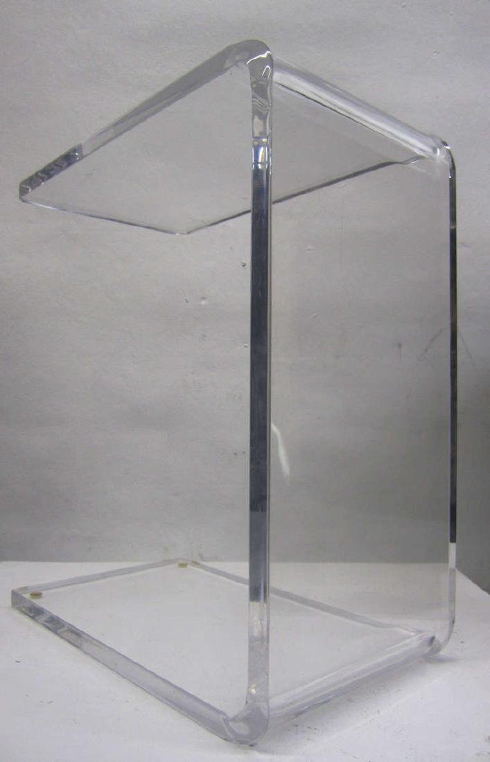 Waterfall Side Table in Lucite - 7