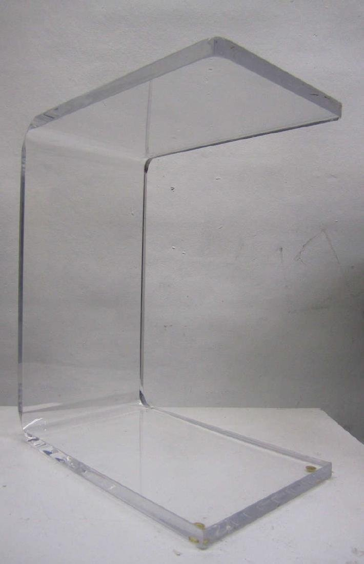Waterfall Side Table in Lucite - 8
