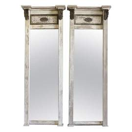 Pair of Large 19th Century Trumeau Mirrors