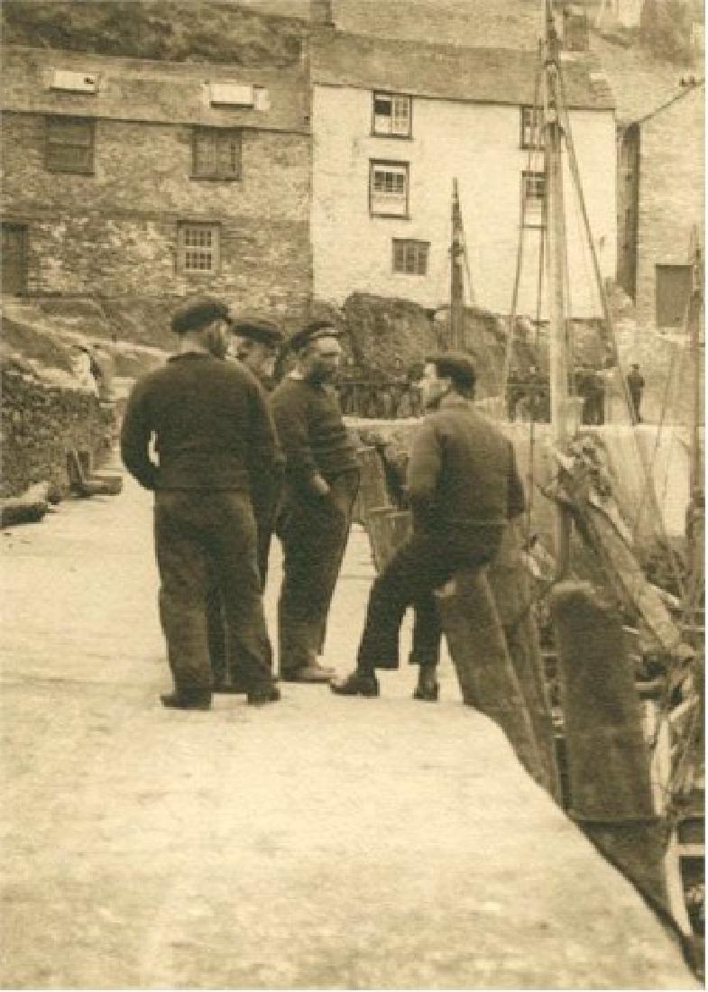 Fishermen in an English Village. C1925.