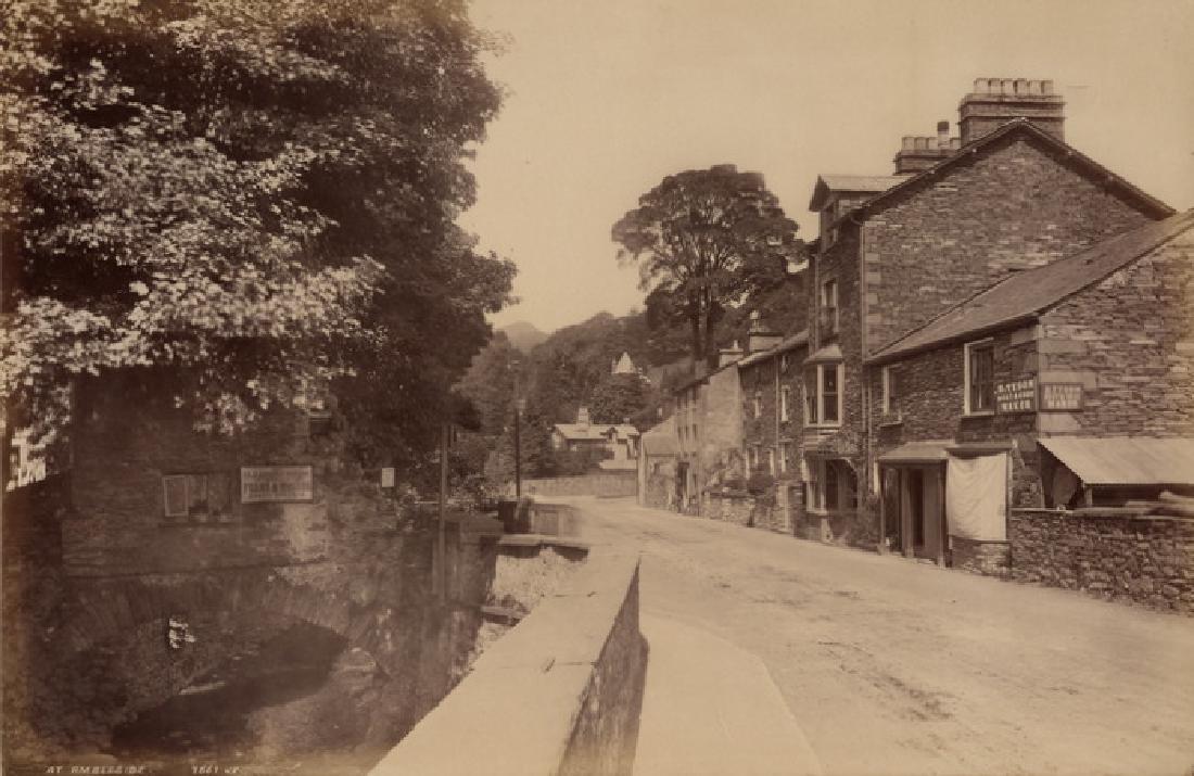 Old Bridge House at Ambleside, Lake District. C1882.