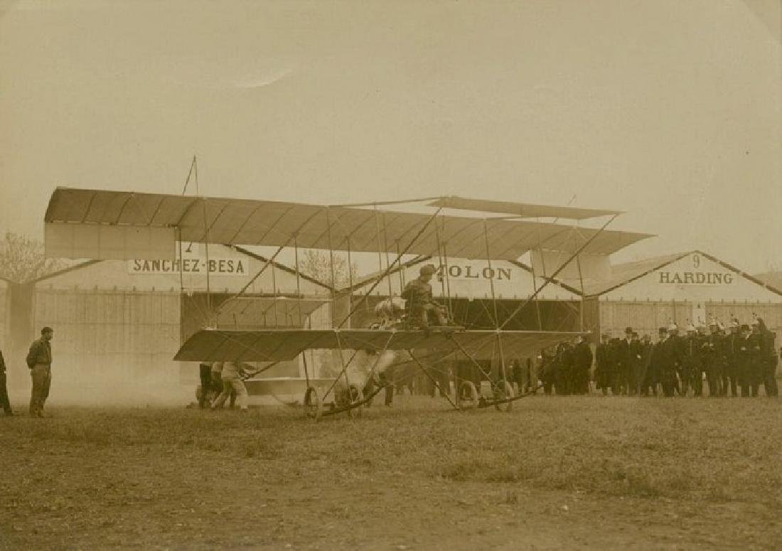 Early Aviation - Ciplan H. Harman takes to the air.