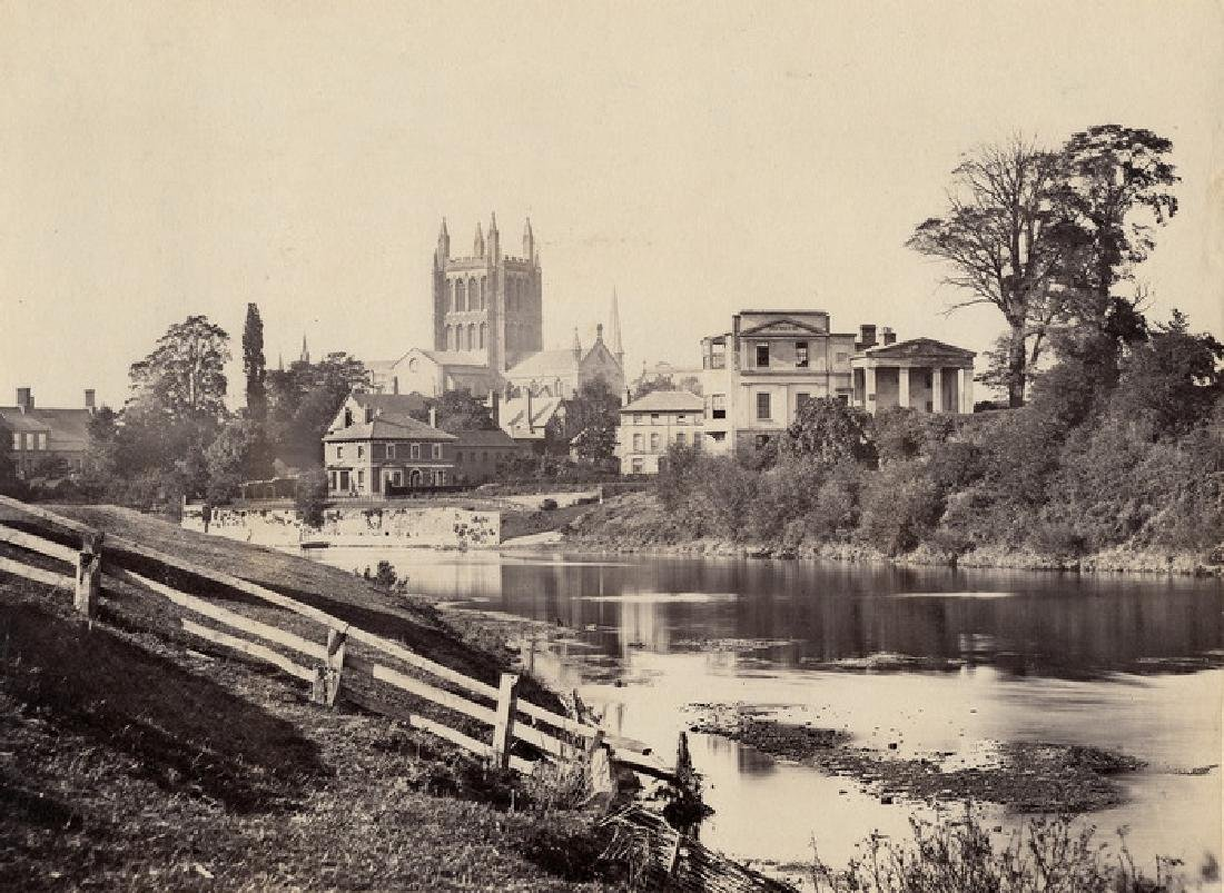 The River Wye at Hereford, England. C1865.