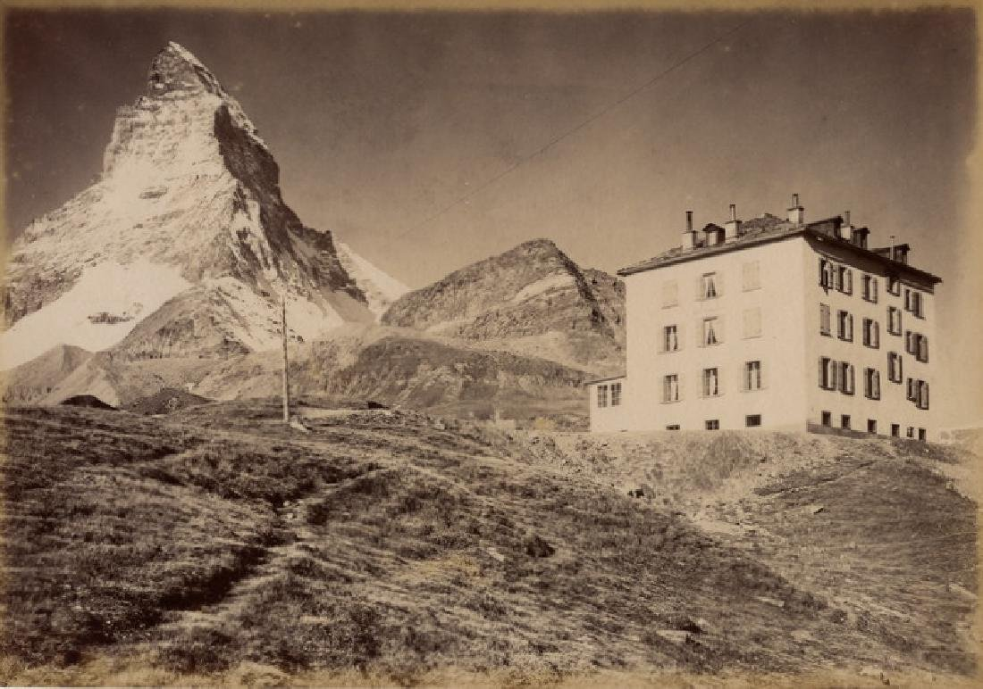 The Matterhorn, between Switzerland and Itlay. c1880