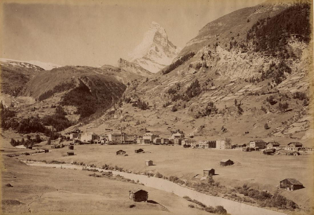 Zermatt with the Matterhorn in Distance. c1880