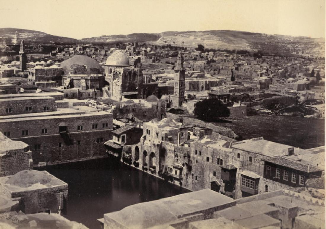 Jerusalem, the Pool of Hezekiah. C1860