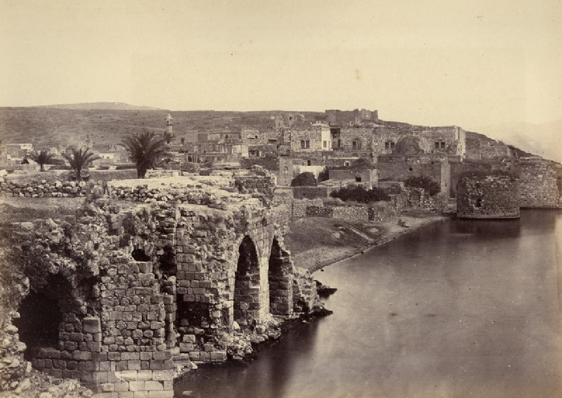 Tiberias, from the south. C1860