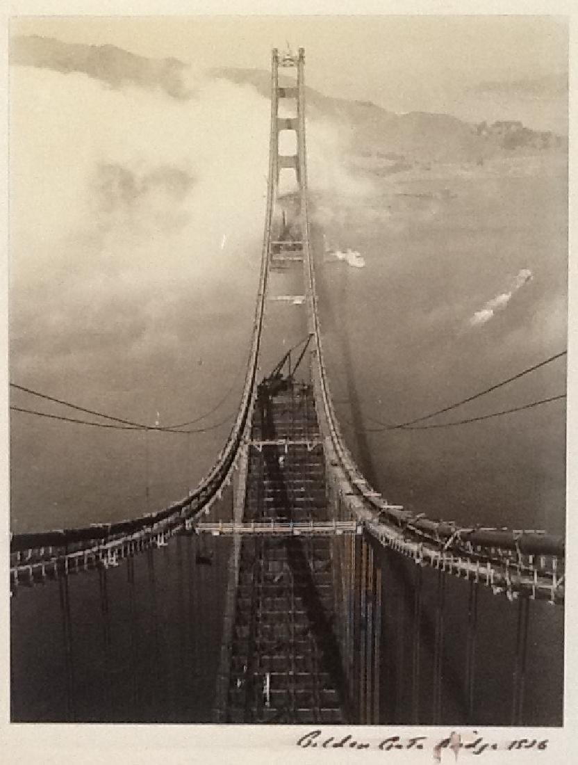 Golden Gate Bridge under construction. c1936
