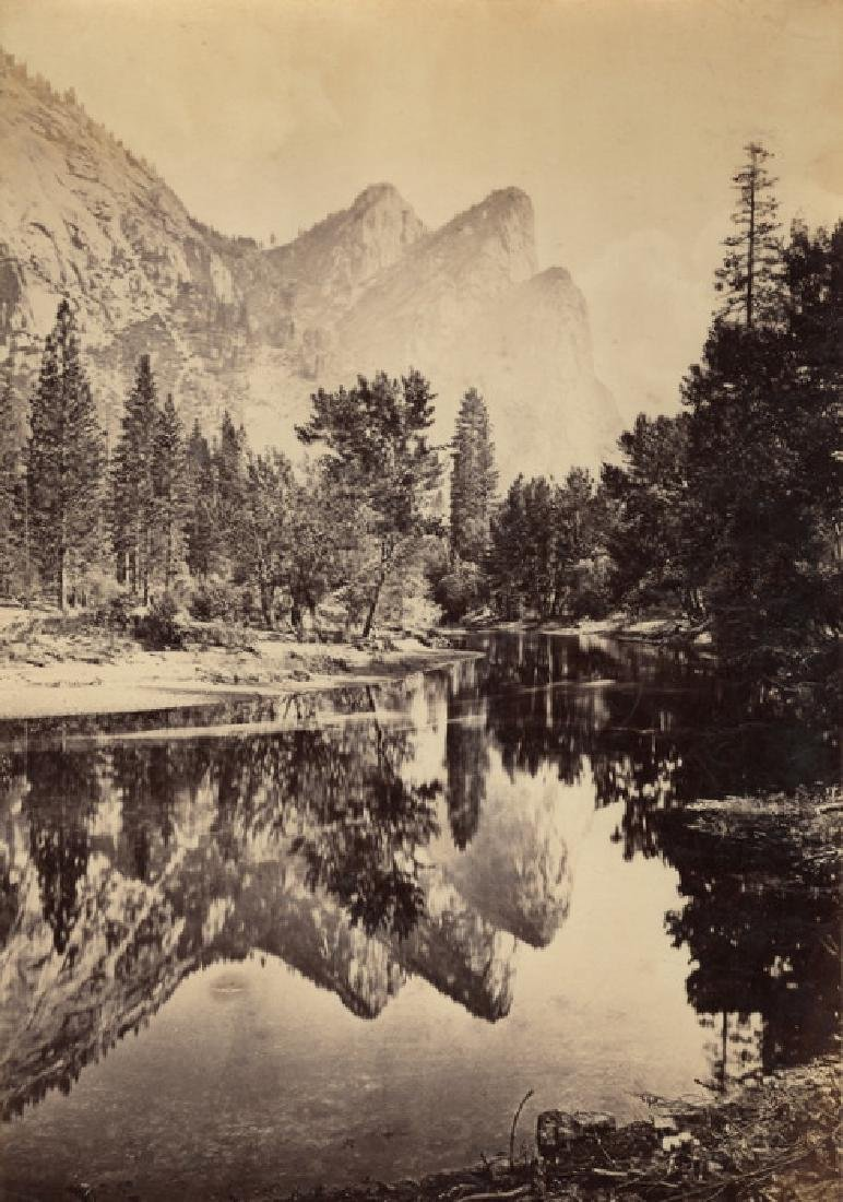 The Three Brothers, reflected, Yosemite, California.