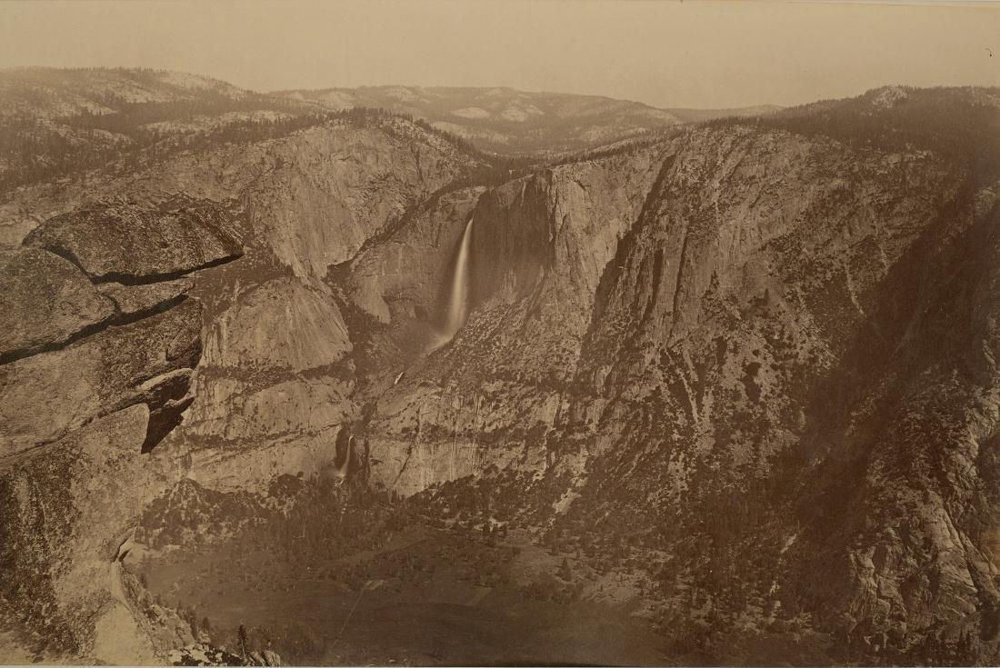 Yosemite Falls from Glacier Point, California. c1865