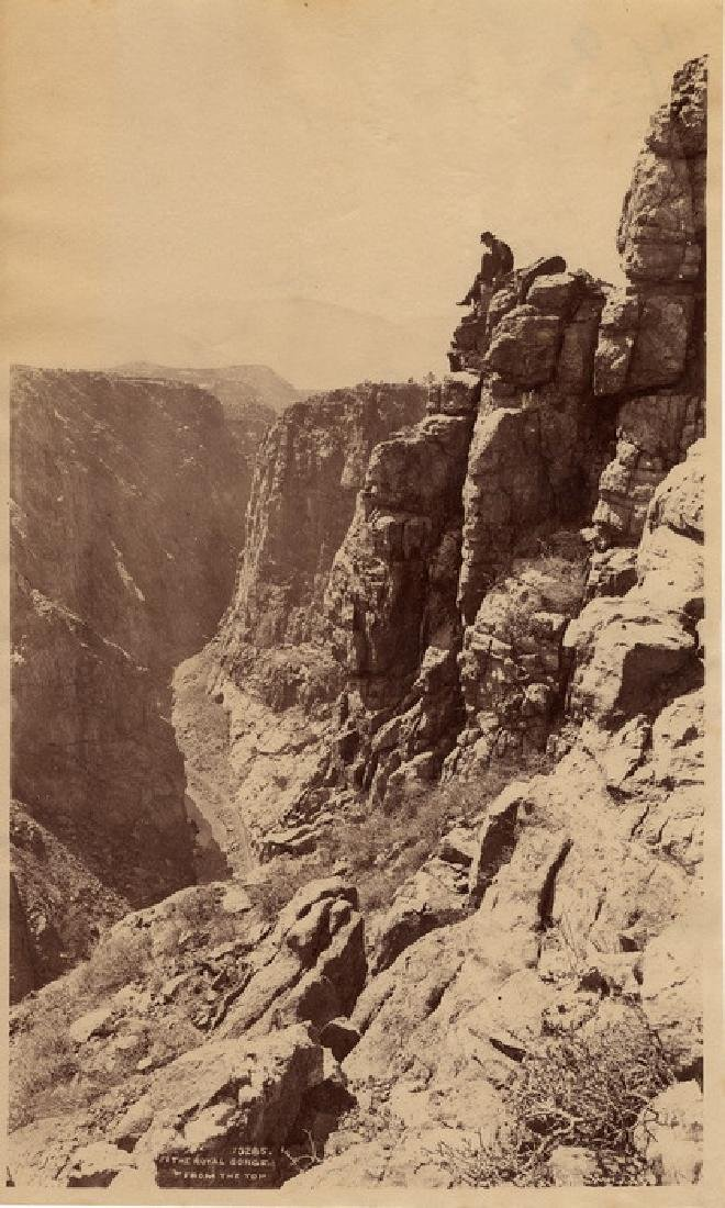 The Royal Gorge from the Top, Colorado. c1880