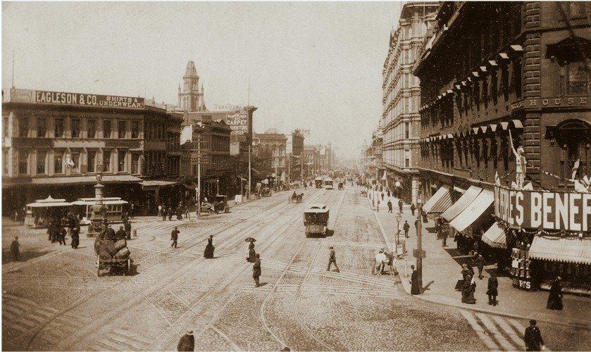 Market Street from Third Street, looking east, San