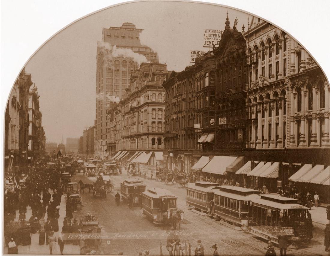 Chicago, Randolph & Clark Street. C1880