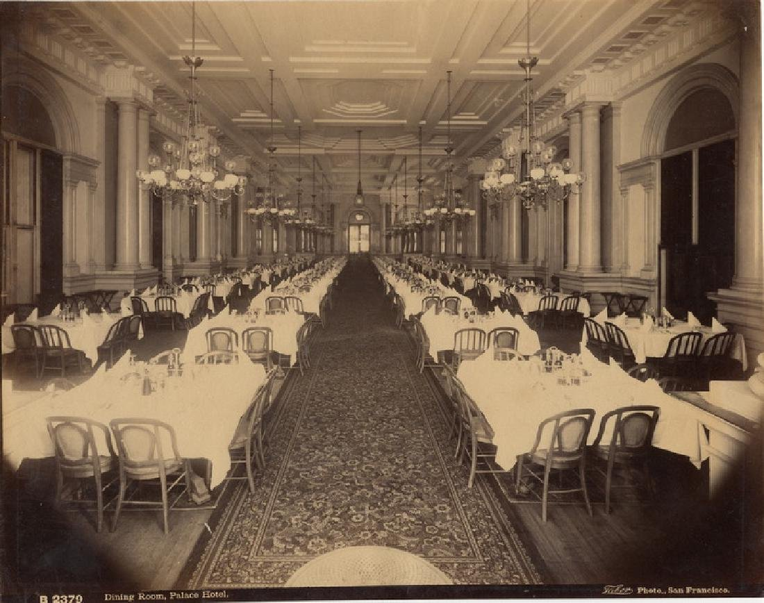 Dining Room of Palace Hotel, San Francisco. C1880