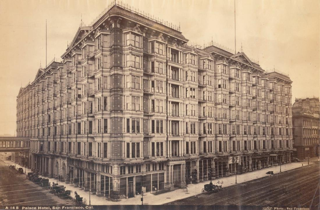 Exterior of the Palace Hotel, San Francisco. c1880