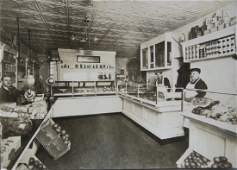 Interior of a New York Food Shop