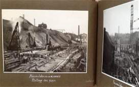 Industrial photo album of the construction of mineral