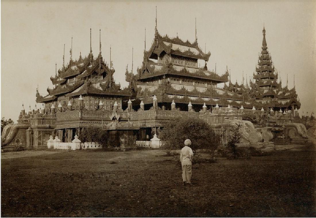 Mandalay, Burma, the Queen's Silver Kyoung. c1880