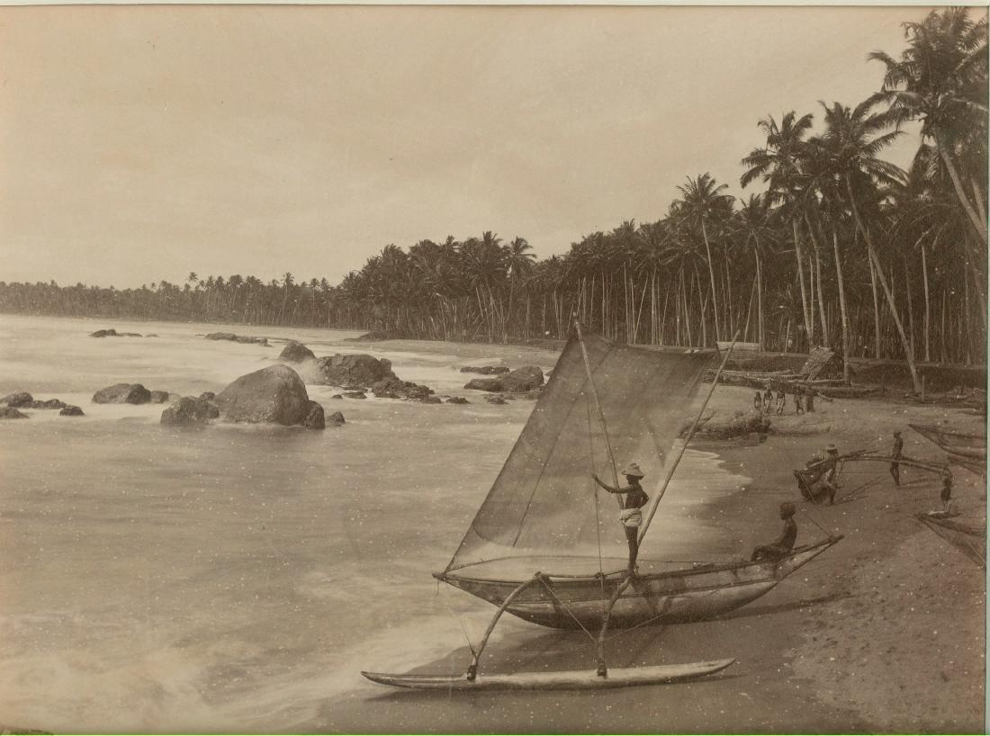 Coastal Fishermen, Ceylon. C1880