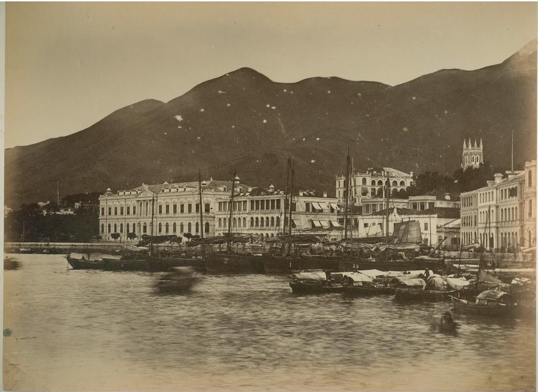 Waterfront, Praya Central, Hong Kong, c1865