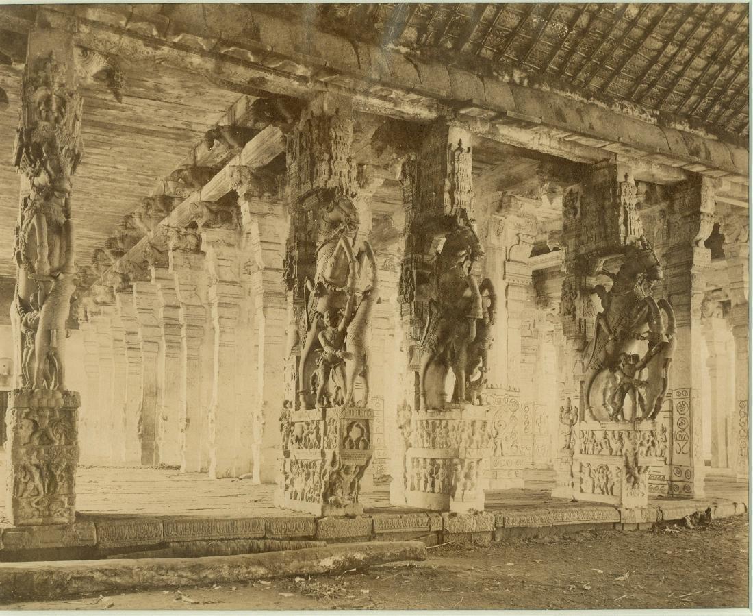 Trichinopoly - Srinigam. Vishnu Temple Pillars, India.