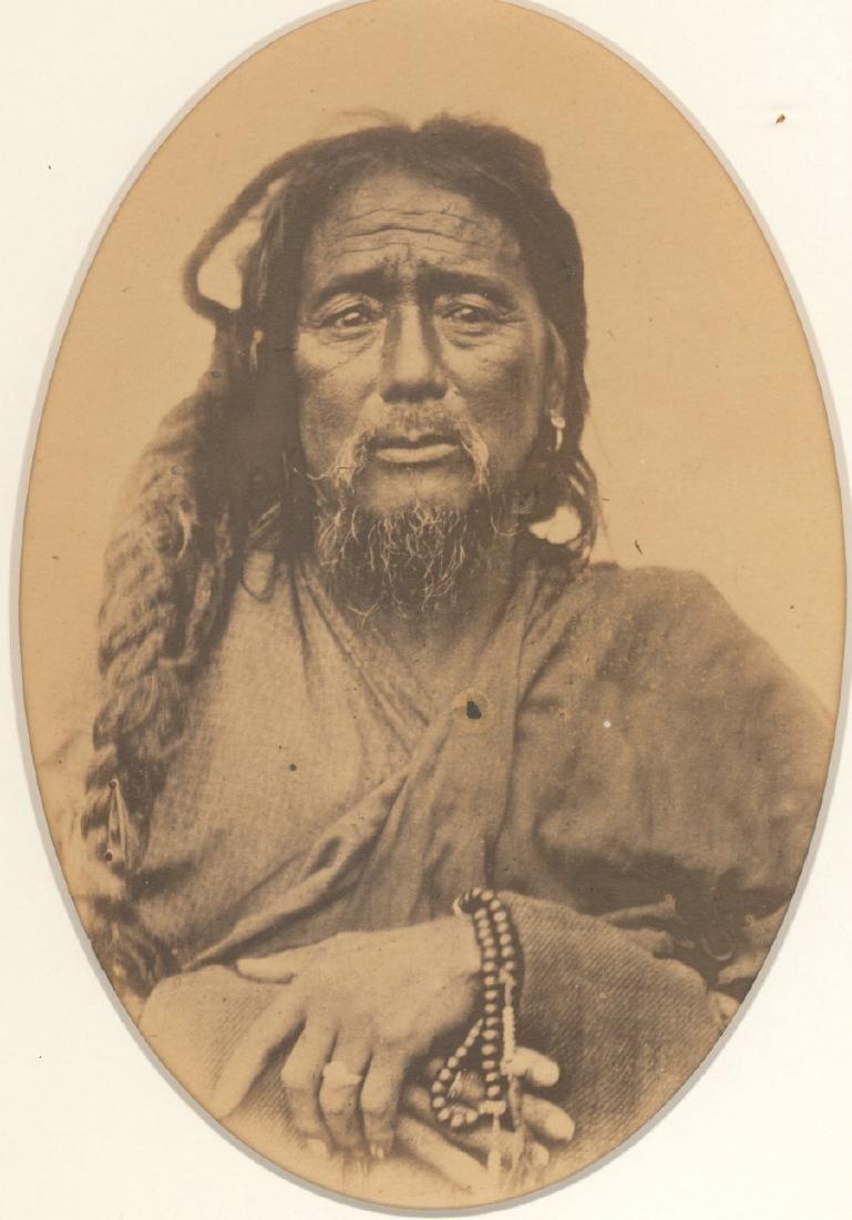 Buddhist Lama, Pemianchi, Tibet. c1868.