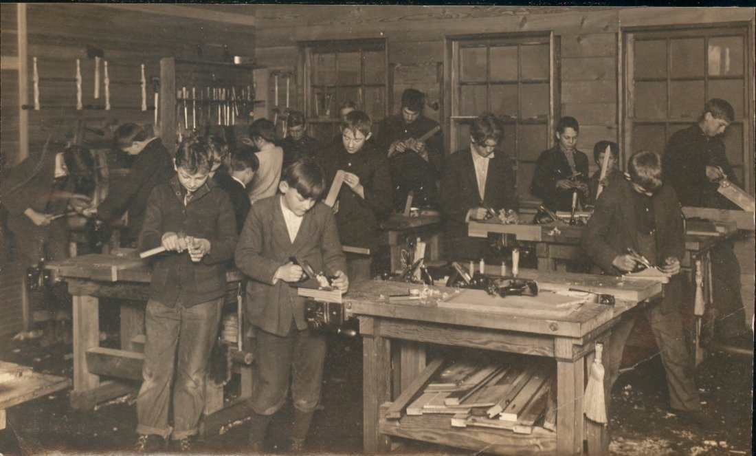 Boy's Woodworking Class, c1910
