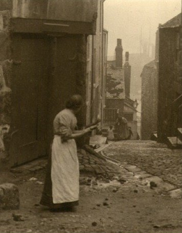Ancient Streets, A Pictorialist photograph. c1920