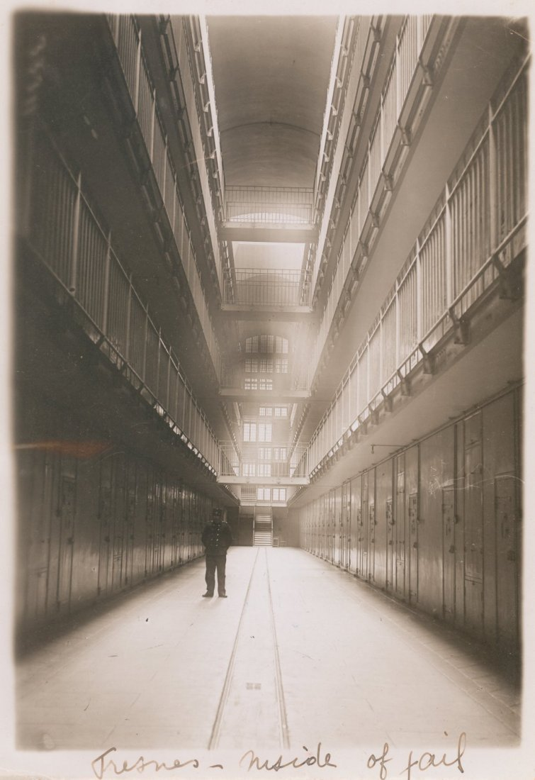 Interior of Fresnes Prison, France. c1920